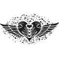 Gm Grunge Vector Heart 03
