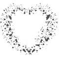 Gm Grunge Vector Heart 09